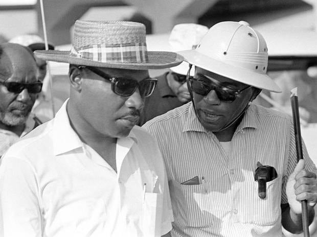 James Meredith with King Facebook feat
