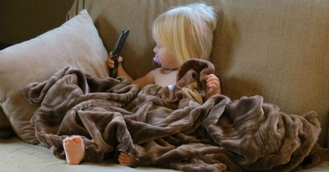 Toddler on couch