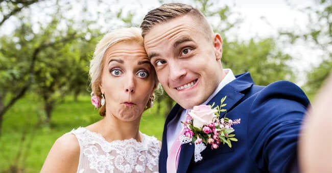 funny-face-bride-and-groom