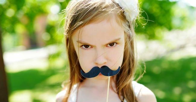 mustache-girl