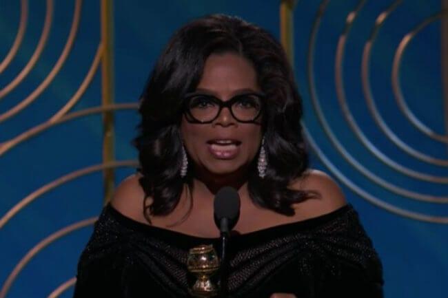 oprah golden globes speech