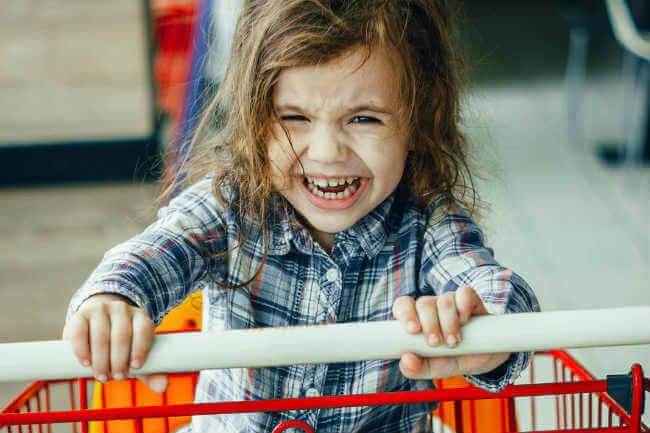 screaming toddler
